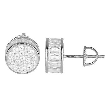 925 Sterling MICRO PAVE Ohrstecker - RUND 10mm