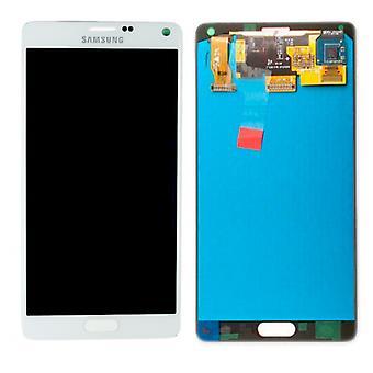 Дисплей LCD полный набор GH97 16565A белый Samsung Galaxy touch 4 N910F