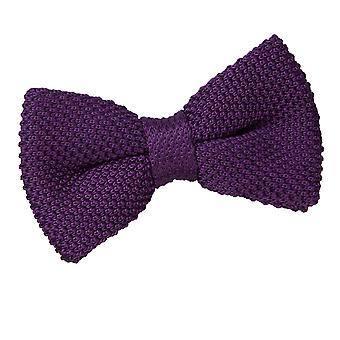 Cadbury Purple Knit Knitted Pre-Tied Bow Tie