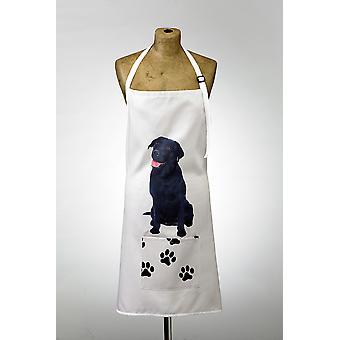 Adorable black labrador design apron