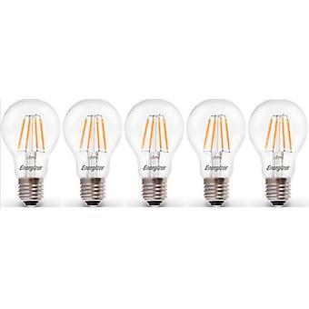 5 X Energizer LED E27 de Filament GLS ampoule lampe Vintage ES clair 4.5W = 40W E27 ES Cap [classe énergétique A +]