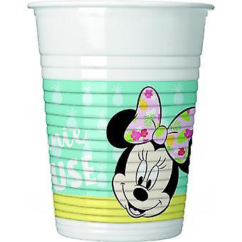 Minnie tropiska mus part kopp ca 200 ml födelsedag 8 bitar