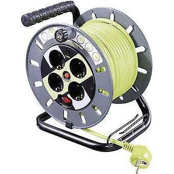 Plug de PG verde Goobay 51268 cabo carretel 25 m