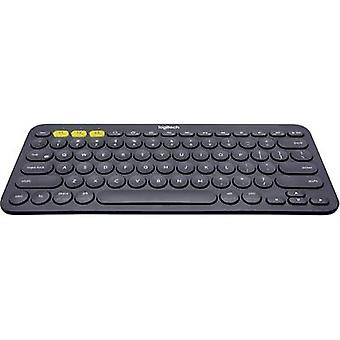 Logitech K380 Bluetooth® Tastatur tysk, QWERTZ, Windows® Mørk grå