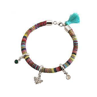 Senhoras - brincos - 925 - verde asteca - Esmeralda BEE - bee - - - quartzo rosa - rosa
