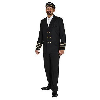 Pilot jacket Captain pilot flight suit costume for men