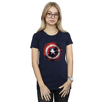 Marvel kvinders Avengers Captain America kunst skjold T-Shirt