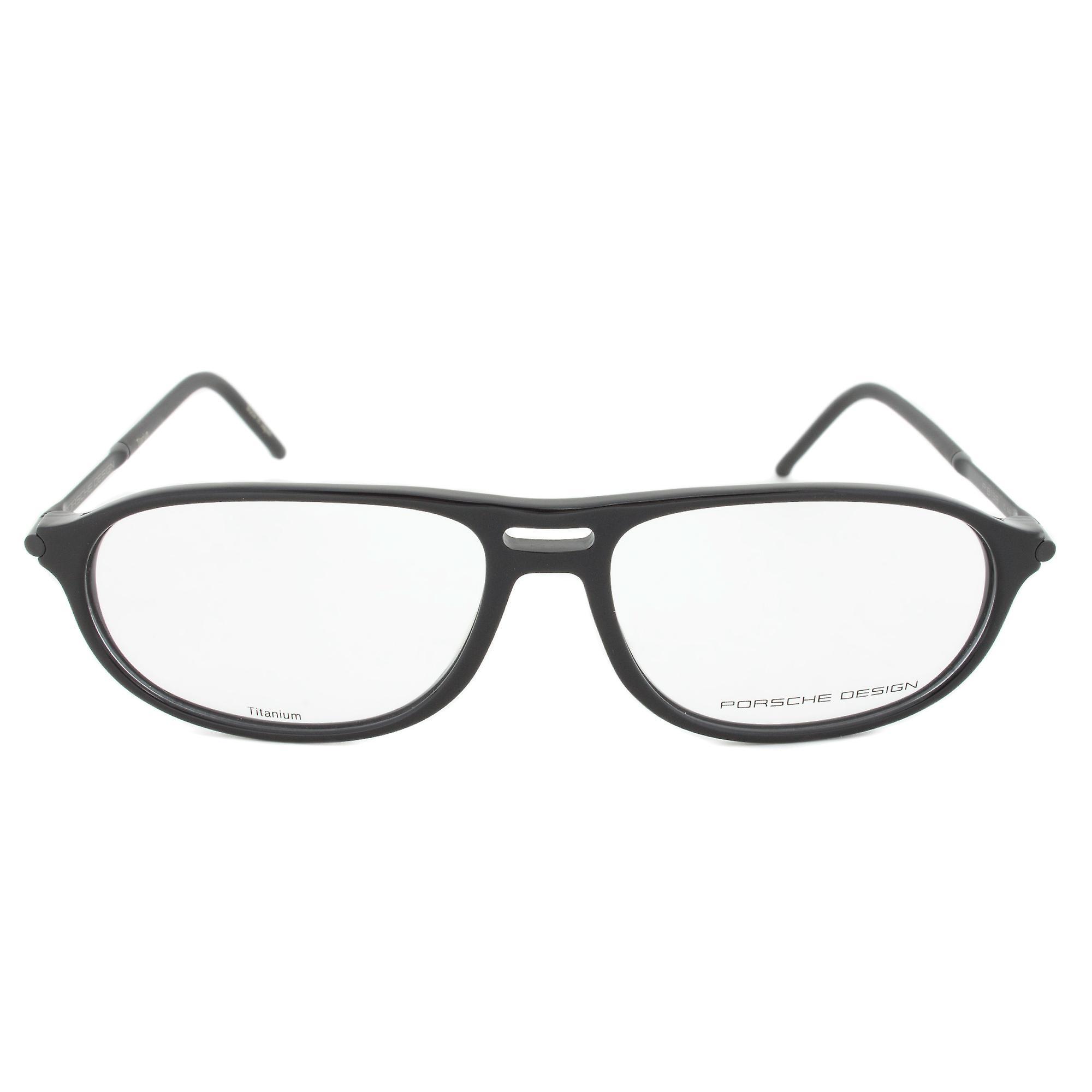 Porsche Design P8138 C Oval   Black  Eyeglass Frames