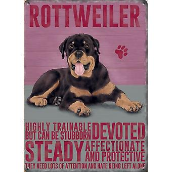 Medium Wall Plaque 200mm x 150mm - Rottweiler by The Original Metal Sign Co