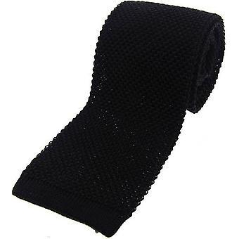 David Van Hagen strikket silke slips - svart