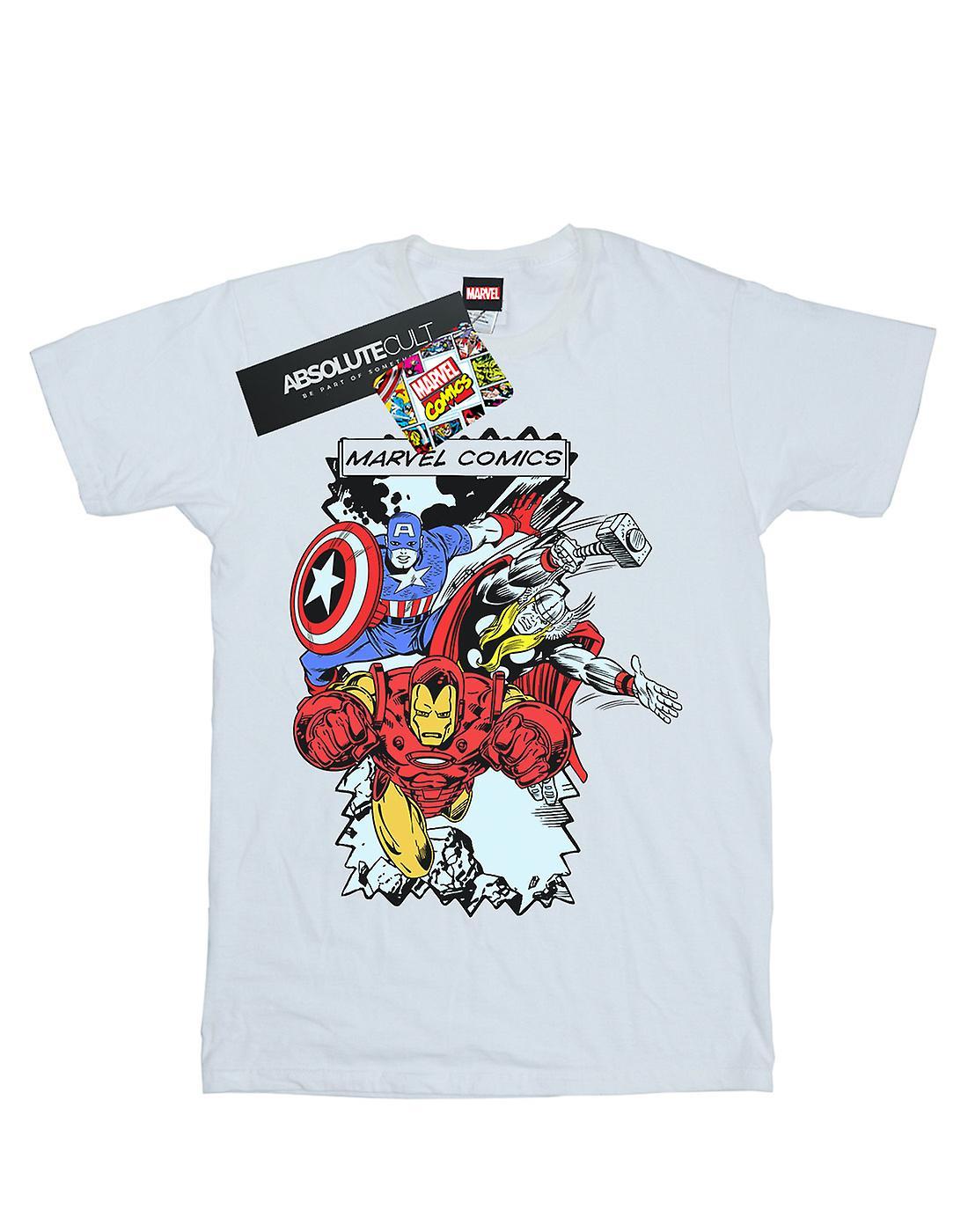 Marvel Women's Comic Characters Boyfriend Fit T-Shirt