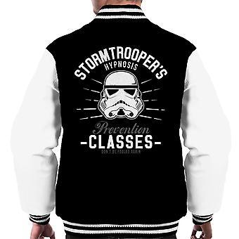 Originele Stormtrooper hypnose preventie klassen mannen Varsity Jacket