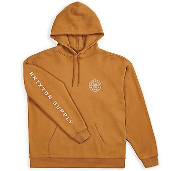 Brixton Oath II Pullover Hoodie Washed Copper