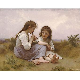 Детство идиллия, Уильяма Бугро Адольф, 50x40cm