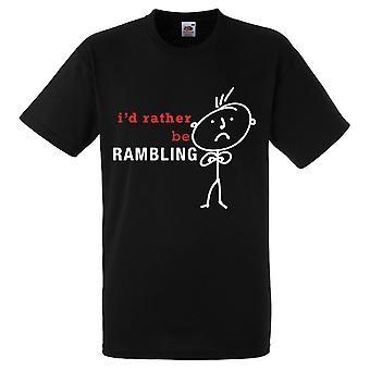 Männer, ich würde lieber wandern, schwarze Tshirt