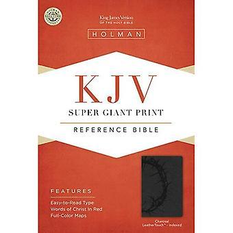 KJV SUPER GIANT PRINT  REFERENCE  CHARCOAL LEATHERLIKE  INDEX