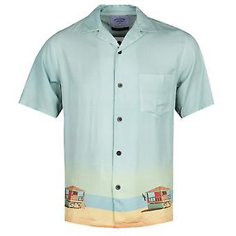 Portuguese Flannel Bay Watch Print Short Sleeve Shirt