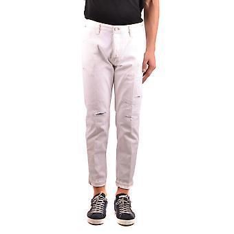Pt05 Ezbc084044 Men's White Cotton Jeans