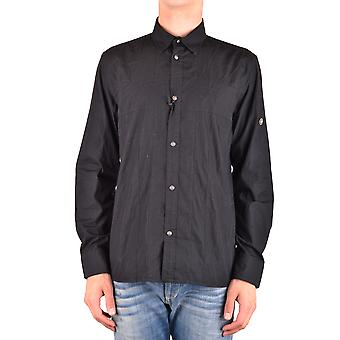 John Richmond Ezbc082068 Men's Black Cotton Shirt