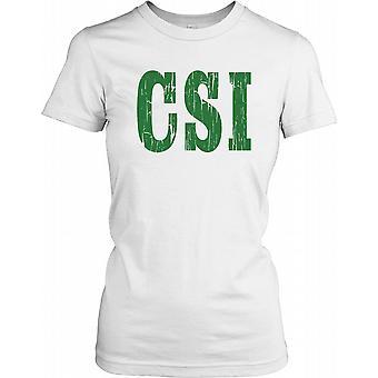 CSI - Crime cena investigação feminina T-Shirt