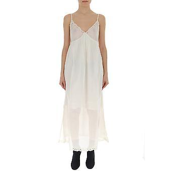 Semi-couture S9pl15a160 Women's White Cotton Dress