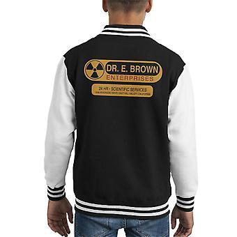 Volta para jaqueta o futuro Dr E Brown Enterprises 24hr serviços científicos infantil
