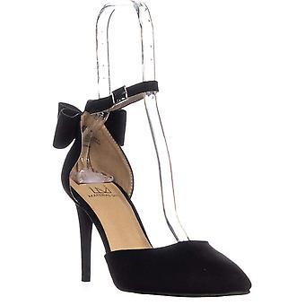 MG35 Pamer Ankle Strap Heels, Black