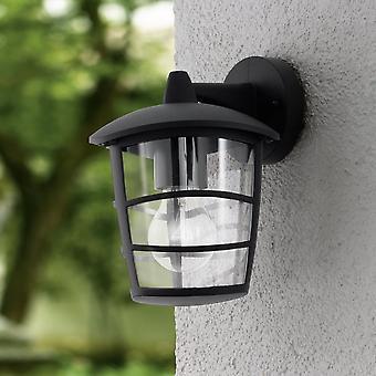 Eglo Aloria negro IP44 Exterior de fundición de aluminio abajo de la pared luz