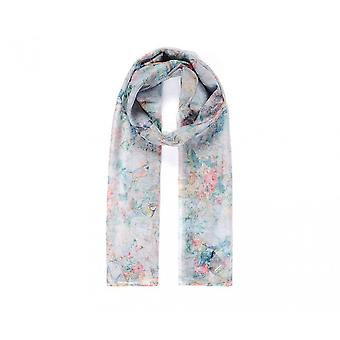 Intrigue Womens/Ladies Birds And Floral Digital Print Scarf