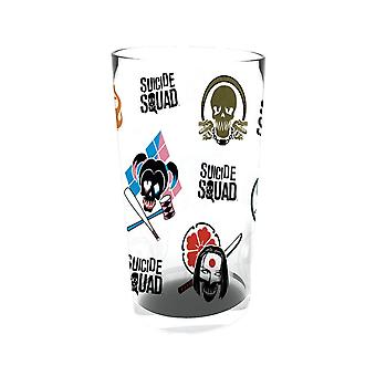 Suicide Squad Skull Logos Large Glass
