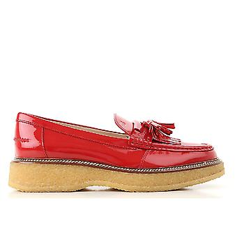 Tod's Xxw30b0ak700w0r402 Women's Red Patent Leather Loafers