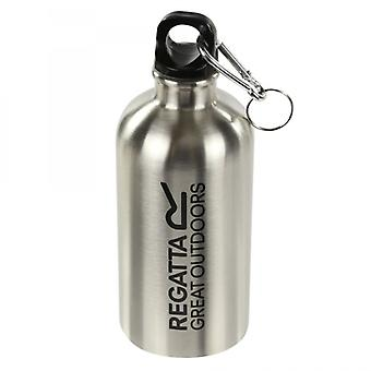 Regatta 0.5L Steel Bottle With Karabiner Lid Silver