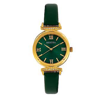 Bertha jasmijn leder-Band Watch-groen