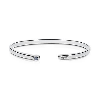 Minnesota Twins Engraved Sterling Silver White Sapphire Cuff Bracelet
