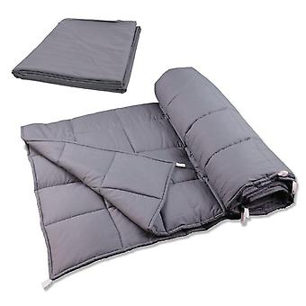 Snipe shareable weighted blanket 12 kg with case of grey cotton satin