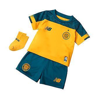 Novo equilíbrio Celtic FC 2019/20 infantil crianças Away kit de futebol amarelo/verde