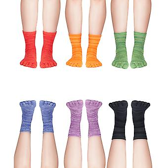 Knitido fruits & pepper, short colorful toe socks for every day