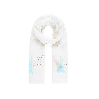 Intrigue Womens/Ladies Eiffel Tower Faux Pearl Scarf