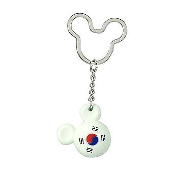 Key Chain - Disney - Mickey Flag Icon Ball Key Ring - South Korea New 85724