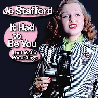 Stafford*Jo - It Had to Be You - Lost Radio Recordings [CD] USA import
