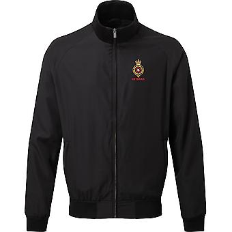 Royal Fusiliers veteran-licenseret britisk hær broderet Harrington jakke