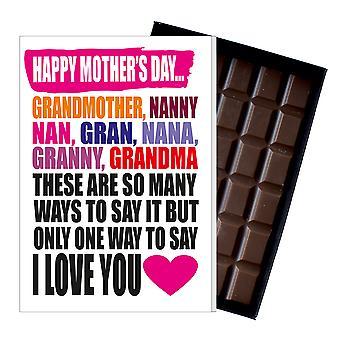 おばあちゃんグランおばあちゃんナンMIYF101のための面白い母'sの日ギフトチョコレートカードプレゼント