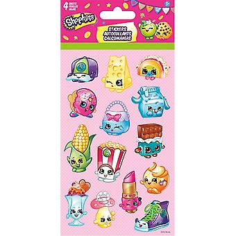 Standard Stickers 4 sheet - Shopkins - Stationery New st4046