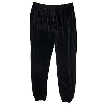 Versace velour cuffed Trackpants musta