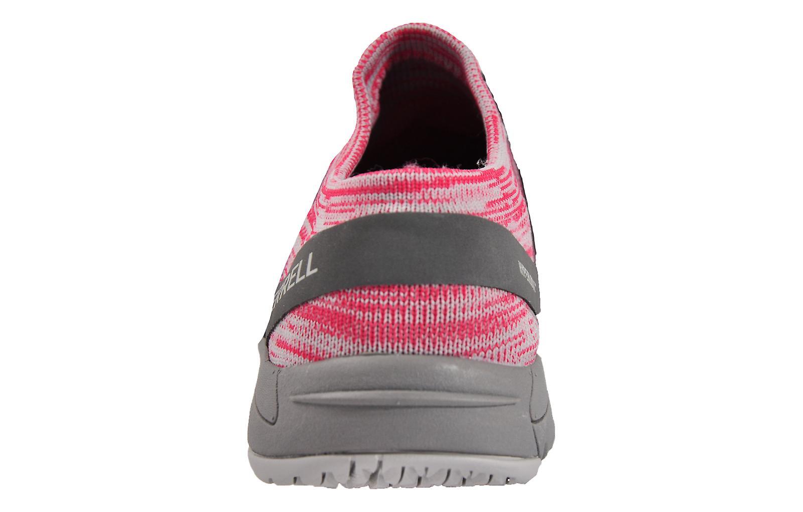 Merrell Bare Access Flex Knit Rose Red / Grey