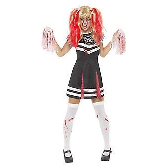 Donne satanic Cheerleader Halloween Fancy Abito Costume