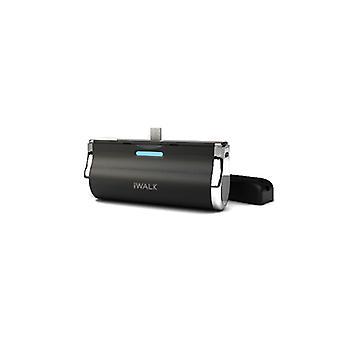 iWalk الالتحام حزمة بطارية احتياطية لهواتف USB الصغيرة (2500mAh) - أسود