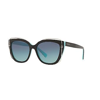 Tiffany TF4148 80559S Black on Tiffany Blue/Azure Gradient Blue Sunglasses