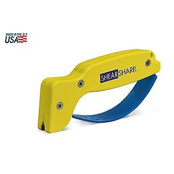 AccuSharp Classic ShearSharp Scissor Sharpener, Yellow/Blue #002C