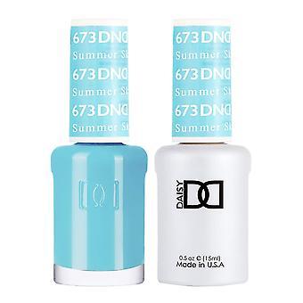 DND Duo Gel & Nail Polish Set - Summer Sky 673 - 2x15ml